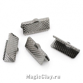 Зажимы для лент 16х8мм, цвет черная сталь, 20шт