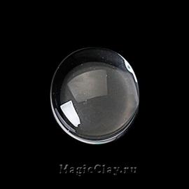 Кабошон Прозрачное стекло Круг 10мм, 20шт