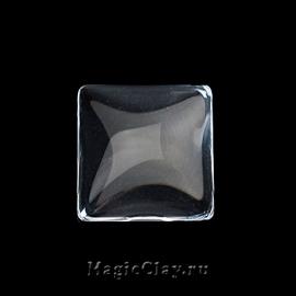 Кабошон Прозрачное стекло Квадрат 15х15мм, 10шт