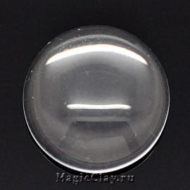 Кабошон Прозрачное стекло Круг 16мм, 10шт
