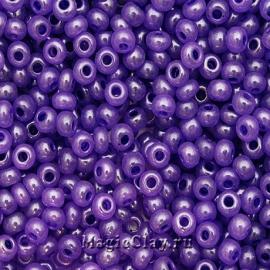 Бисер чешский 10/0 Алебастр, 17328 Purple, 41гр
