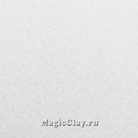 Фетр для рукоделия жесткий 20*30см, цвет Белый