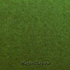 Фетр для рукоделия жесткий 20*30см, цвет Оливковый