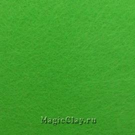 Фетр для рукоделия жесткий 20*30см, цвет Зелено-Желтый