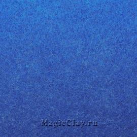 Фетр для рукоделия жесткий 20*30см, цвет Синий