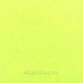 Фетр для рукоделия жесткий 20*30см, цвет Лимон