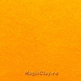 Фетр для рукоделия жесткий 20*30см, цвет Оранжевый Светлый