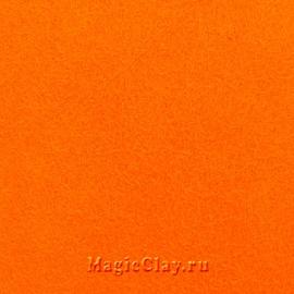 Фетр для рукоделия жесткий 20*30см, цвет Оранжевый Яркий