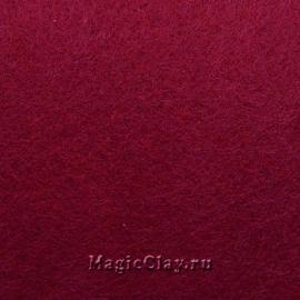 Фетр для рукоделия жесткий 20*30см, цвет Вишневый