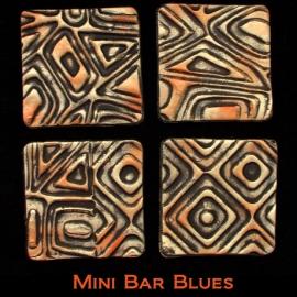 Pixie Art Stamps текстурный лист Mini Bar Blues