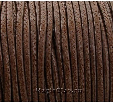 Шнур вощеный Корейский Коричневый, 5 метров